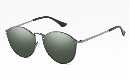 BRGHNPF Gläser Ladies 'Big Cat Eye Sonnenbrille Female Retro Mirror Sonnenbrille DamenbrilleGun G15
