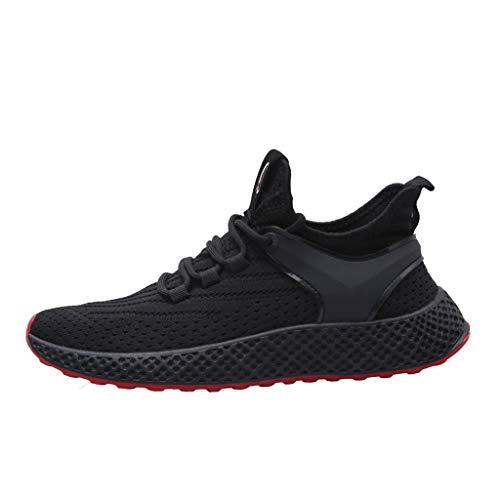 AIni Herren Schuhe Sale 2019 Neuer Heißer Beiläufiges Mode Outdoor Sportschuhe Laufschuhe Casual Sneakers Mesh Feste Schuhe Freizeitschuhe Partyschuhe(43,Schwarz)