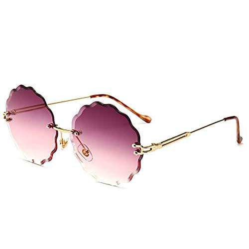 FYrainbow Blumensonnenbrille, Moderne, rahmenlose Sonnenbrille eignen Sich am besten zum Angeln Golf-Outdoor-Reisemangel UV400,D