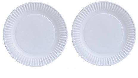 Nicole Home Collection Pappteller, 80 Stück, 15,2 cm, Weiß, 2-(Pack) - Nicole 2 Stück