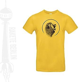 Herren T-Shirt 'Löwenkopf gezeichnet' Baumwolle