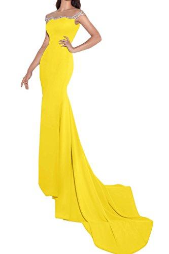 ivyd ressing Femme Fashion Etui Ligne pierres traîne Party robe Prom Lave-vaisselle robe robe du soir Doré