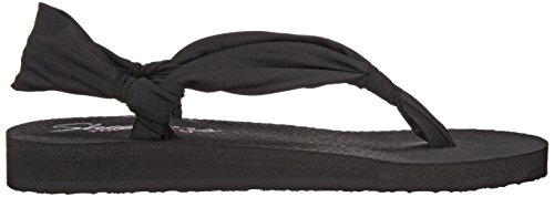 Skechers Meditation Summer Breeze Damen Plateausandalen Schwarz (Schwarz)