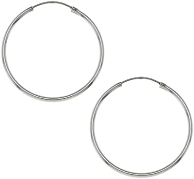 plata de ley pendientes para 925 aros indio hecho a mano de la joyería fina de 30 milímetros