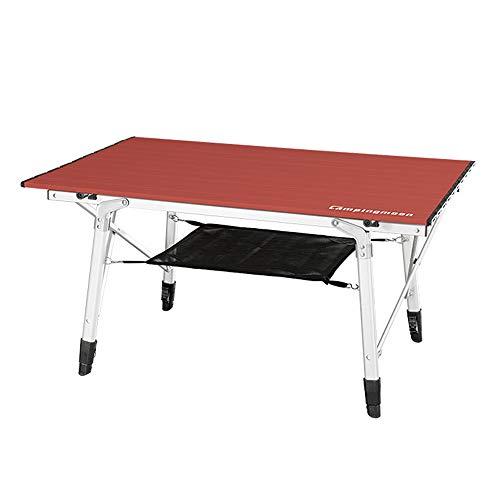 LYY Tavolo da Biliardo Pieghevole da Tavolo in Alluminio Verniciato in Lega di Alluminio, Compatto per Il Tempo Libero da Picnic con Borsa, Altezza Regolabile per 4 Persone