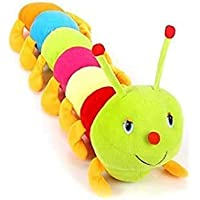 BTC Cute Caterpillar Soft Toy for Kids Multicolored Plush. (65CM)