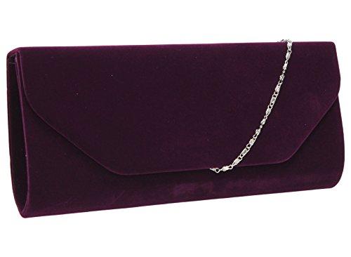 SwankySwansIsabella Velvet Envelope In B - Sacchetto donna Purple