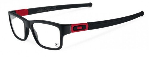 Oakley Rx Eyewear Für Mann Ox8034 Marshal Black / Red / Scuderia Ferrari Collection Kunststoffgestell Brillen, 51mm