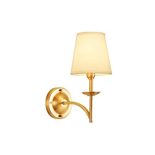 SB-63721, Wandleuchte, American Creative Single Light Wandleuchten, White Fabric Shade Wandleuchte, Copper Body Wandleuchte Leuchte -
