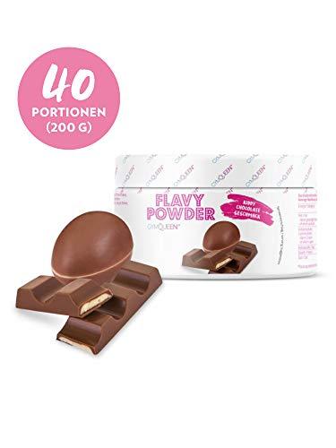 GymQueen Flavy Powder 200g | Geschmackspulver Kiddy Chocolate Aroma | nur 10 kcal pro Pulver Portion | Kalorienarm | Flavour Powder zum Abnehmen oder Süßen, Backen und Verfeinern von Lebensmitteln