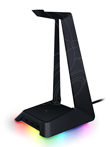 Razer Base Station Chroma Headset Ständer (mit RGB und USB-Port, Rutschfeste Unterlage, Chroma RGB Beleuchtung, mit 3 USB Anschlüssen)