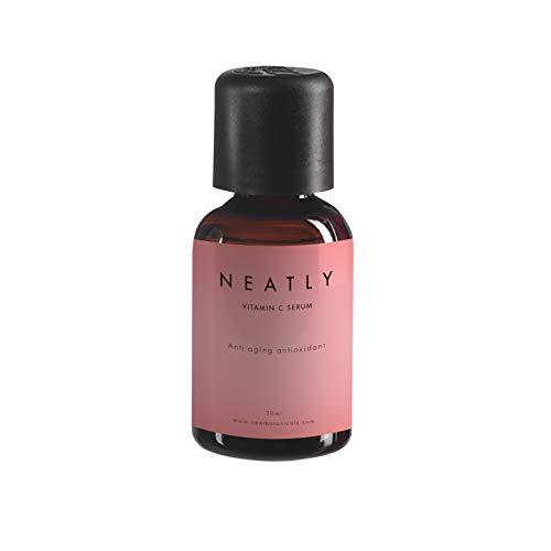 Haut-Serum für Frauen gegen Pigmentflecken von NEATLY   BIO Gesichts-Öl mit Aleo Vera Gel 30ml   Vitamin C als Kollagen Booster für glatte Haut