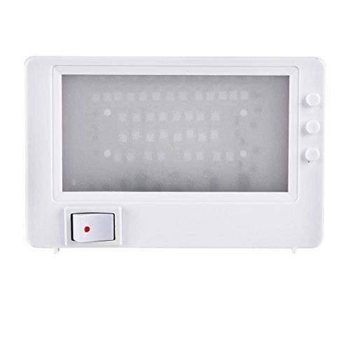 LED TV Simulator Kompakt 37 LEDs Fernseh Attrappe Dummy Einbruchschutz Fake-TV