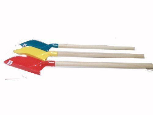 drybranch Sand Schaufel Kunststoff Spaten mit Holz Griff 83,8cm sortierte Farben (3Stück)