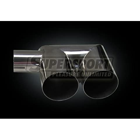 Super Sport sudore Adapter–adattatore da 1x 65mm a 2X 77mm (U per 80mm endrohre) universale U–Adattatore da 1x 65mm a 2X 77mm (per 80mm endrohre) (suu6580)
