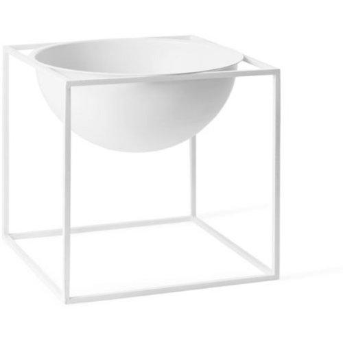 By Lassen - Kubus Bowl/Schale - Stahl - weiß - 23 x 23 x 23 cm