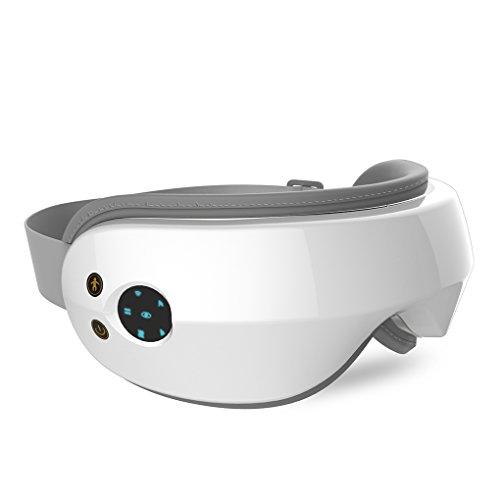 Masajeador de Ojos Masajeador Electrónico Plegable Recargable con Calefacción Presión del Aire Vibración para Ojo Seco Relajarse Visión Ojo Oscuro Círculos Estrés Alivio (Tipo 0)