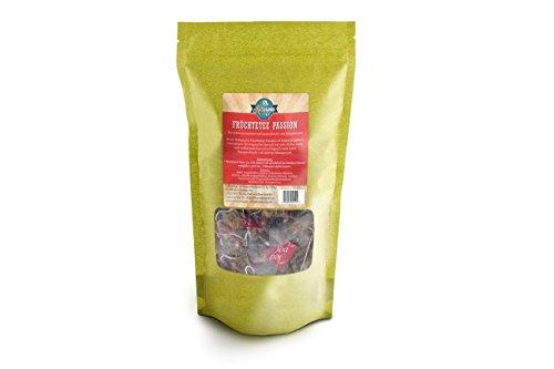 Kultaroma - Früchtetee Passion, 60 Pyramidenbeutel mit Blatt-Tee, Teebeutel Maxipack Tee-hibiscus Hagebutte