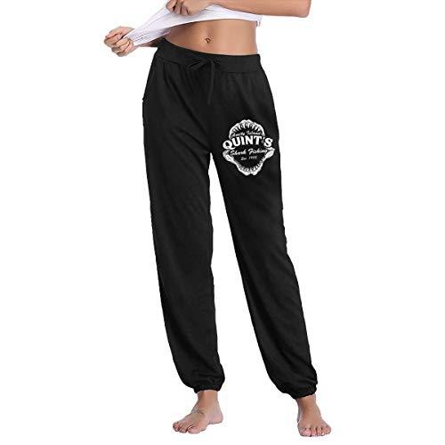 LihaiLe Quint's Shark Fishing Women's Long Pockets Pants Black