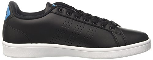 adidas Cloudfoam Advantage Clean, Chaussures de Tennis Homme Noir (Negbas/negbas/azusol)