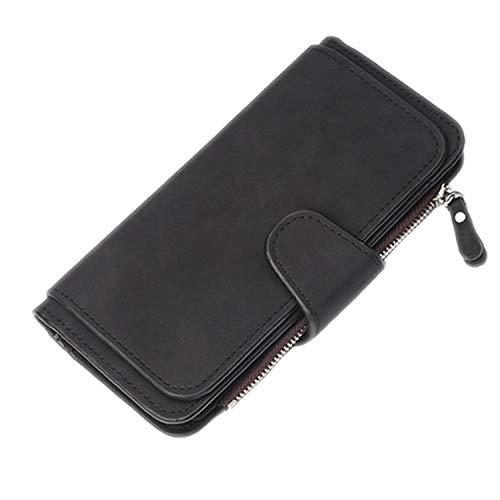 Portemonnaie für Damen, aus Leder mit Schrubbdruck, Lange Portemonnaie, Carteira Feminina 8 Einheitsgröße