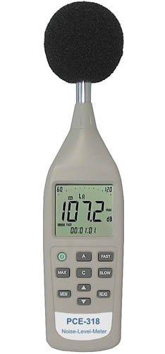 Schallpegelmesser PCE-318, Klasse II, 26 . 130 dB(A), Schallpegelmesser, Lärmmessgerät