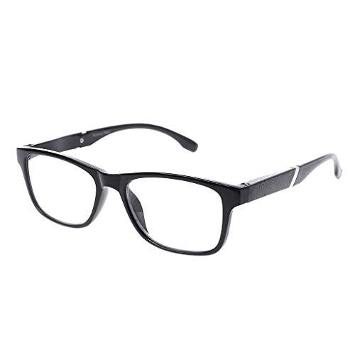 Xurgm Lesebrillen Damen Herren Federscharnier Lesehilfe Augenoptik Vintage Retro Qualität Vollrandbrille 1.0 1.5 2.0 2.5 3.0 3.5 4.0 (+4.0, Schwarz)