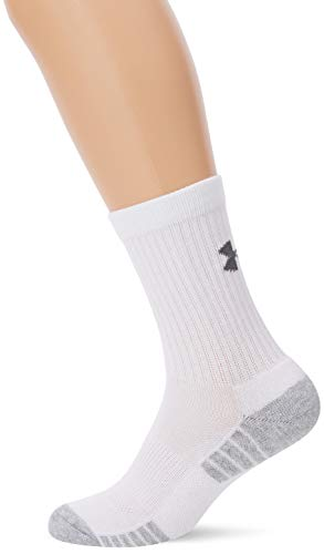 Under Armour Herren Heatgear Tech Crew 3PK Socken,weiß,M -