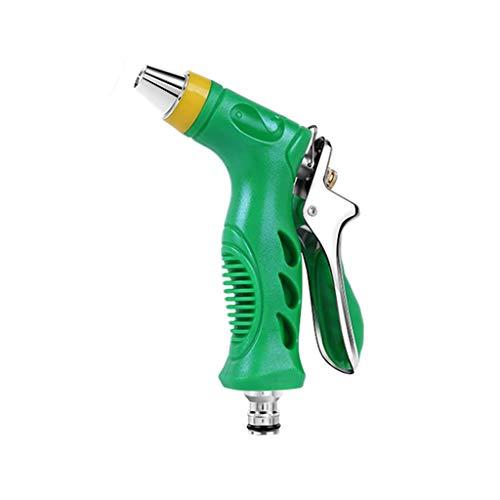 Wasserpistole Single Water Gun 4 Zubehör Kit ABS + Gummi + Metall Material zum Waschen Auto/Bewässerung Blumen/Gemüse/Reinigung von Fenstern/Boden (grün) -