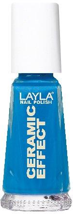 Layla Cosmetics 1243R23-038 Ceramic Effect Nagellack - aquamarine, 1er pack (1 x 0.01 l)