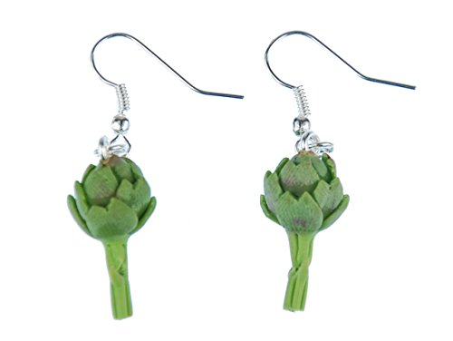 cynara-orecchini-miniblings-verdura-pianta-artischocke-3d-verde