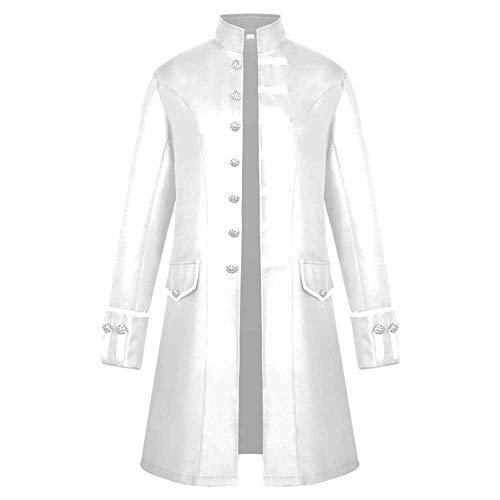 Giacca invernale da uomo invernale con frange e maniche lunghe giacca lunga vintage da uomo steampunk con rivestimento invernale