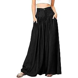 Pantalon Longs Femme CIELLTE Combinaison Sarouel Leggings Rompers Automne Hiver Pantalon Ample Jambe Large Grande Taille Couleur Unie Pyjama Fluide Confortable