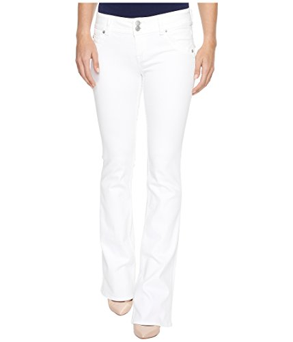 Hudson Jeans Women's Signature Bootcut Full Coverage Flap Pocket Jean, White, 31 Hudson Flare Jeans