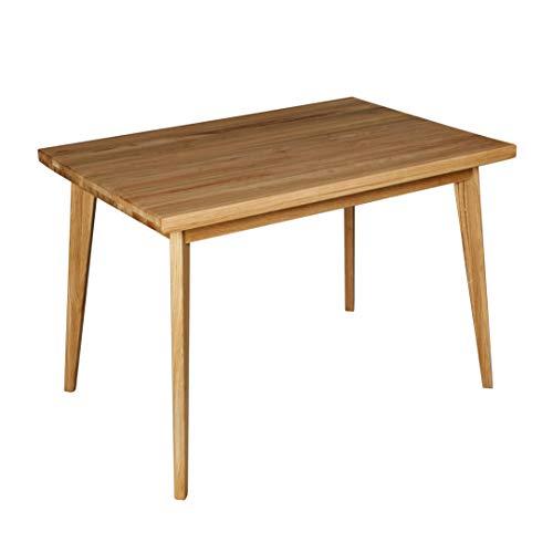 Krokwood Hans Massivholz Esstisch in Eiche 110x75x75 cm FSC 100% massiv Tisch geölt Eichenholz Esszimmertisch für Küche praktischer Küchentisch fester Holztisch vom Hersteller und kostenlose Lieferung
