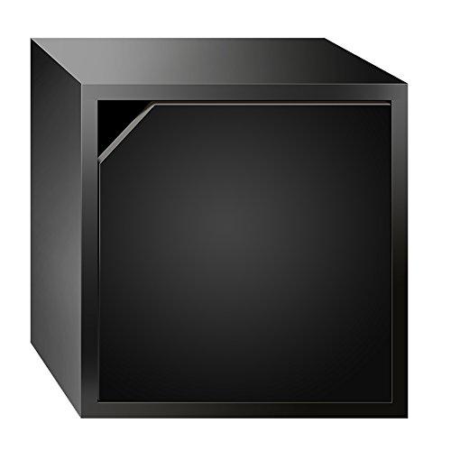 QIANGDA Holz Bücherregal Multifunktion Kleiner Schrank Wohnzimmer Bücherschrank Freie Kombination Aufbewahrungsschränke, 35 X 30 X 35 Cm, 6 Farben Wahlweise ( Farbe : Schwarz , größe : 3 pieces )