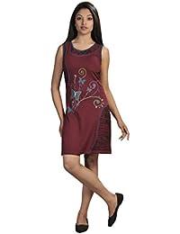 Damen-Sommer-Sleeveless Kleid mit bunten