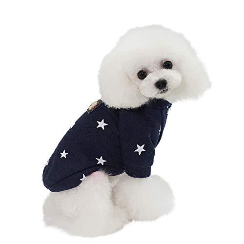 (Dragon868 Tierhirnhund Warme Winterkleidung Welpenkater Sweater Apparel Little Star Coat)