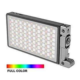 Boling BL-P1 RGB LED Vollfarben-Kamera- / Camcorder-Licht, wiederaufladbares Videolicht im Taschenformat mit 2500k-8500k Farbbereich, 9 gängige Szenen Simulationen