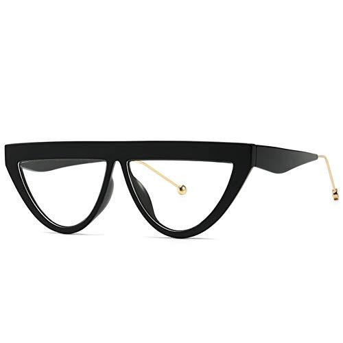 Taiyangcheng Polarisierte Sonnenbrille Cat Eye Sonnenbrille Damen Klein Markendesigner Schmaler Rahmen Flache Oberseite Sonnenbrille Weibliche Schattierungen Damen Klare Linse,a1