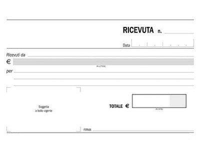 Gica - 10 blocchi ricevute generiche 50 fogli 2 copie autocopianti 10x17cm