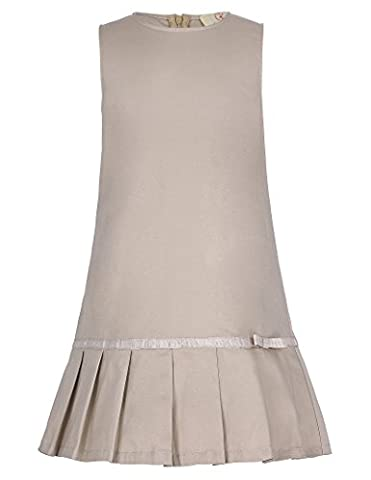 Girl Solid Casual Dress Khaki 10-11yrs CL8991-2