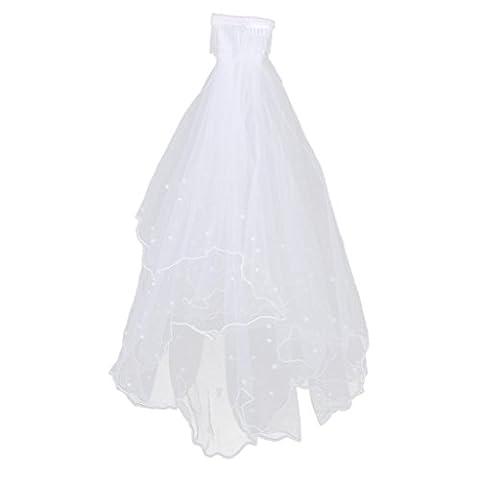 Sharplace 2 Schicht Braut Brautschleier Weißen Braut hochzeits schleier