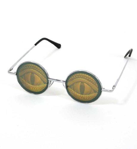 Hologramm-Brille Augen, Reptil, (Hologramm Kostüme)