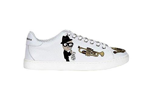 Dolce & Gabbana  CS1443 Sneaker Cervo, Herren Sneaker, Weiß - Bianco - Größe: 43 EU