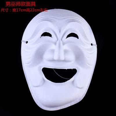 HITSAN INCORPORATION Screaming Ghosts DIY Blank Party Mask White Paper Pulp Environmental Fine Art Painting Programs Masquerade Full Face Masks 10pcs