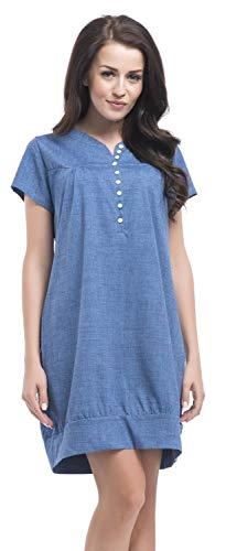 DN, Nachthemd, TM.8061 Jeans Gr. XL - Frauen Blue Kleider Für Satin