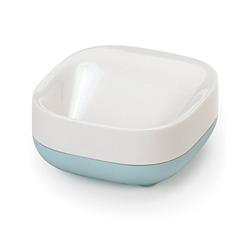 Joseph Joseph Bathroom Slim Compact Soap Dish, White/Blue