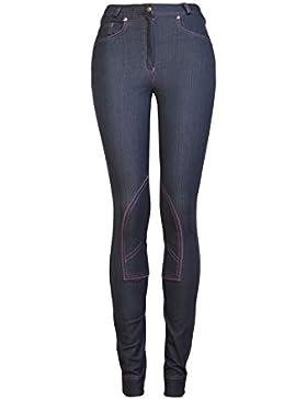 GS Equestrian Kerry de la Mujer Denim Pantalones–Denim, tamaño UK 18