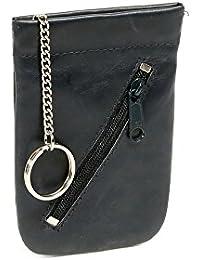 Pochette pour clés LEAS, cuir véritable, bleu - ''LEAS Special Edition''